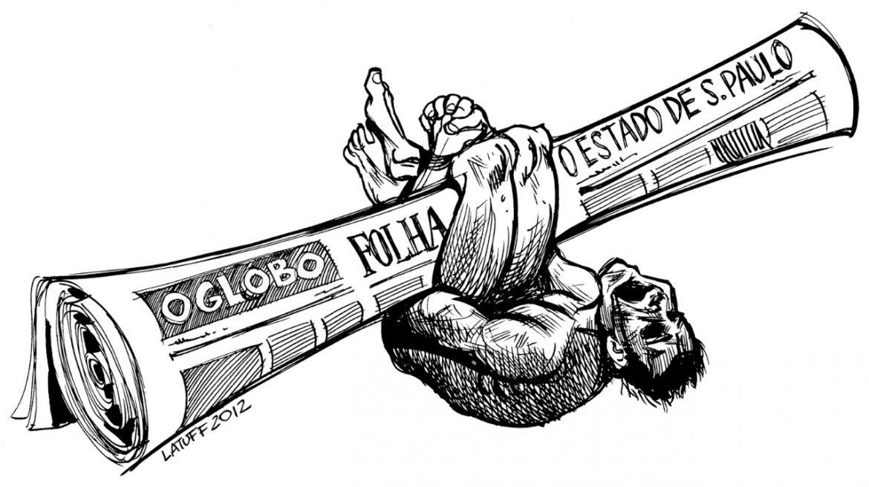 A Grande Mídia sempre vai defender seus interesses: E se for preciso manter um genocida no poder, que se mantenha – Por Camilo de Oliveira Aggio; Com Latuff