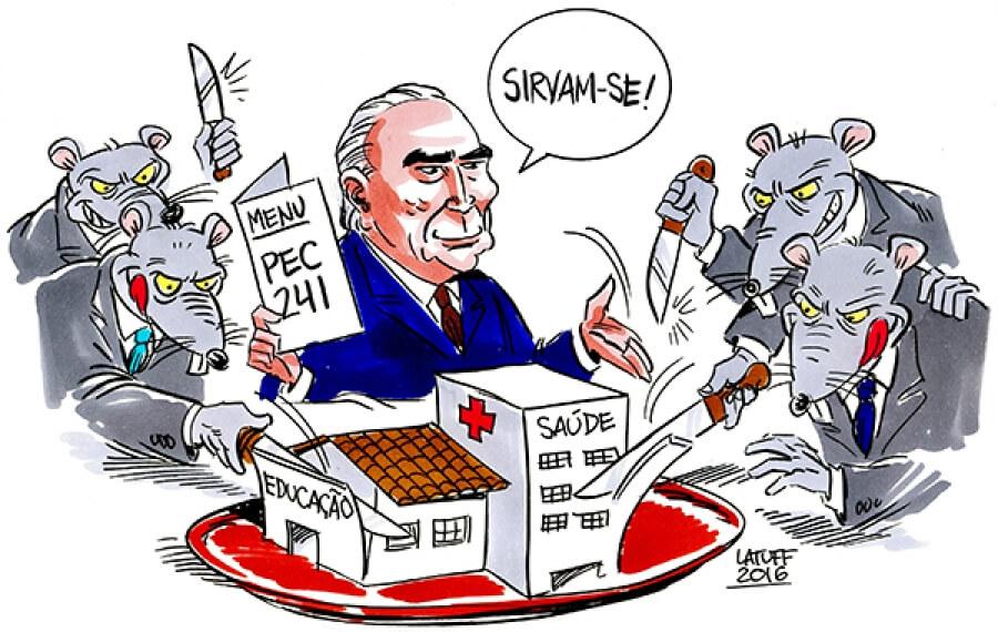 O teto virou piada, levou um drible da realidade, e é por isso que os liberalóides estão putos – por Samuel Braun; Com Charge de Latuff